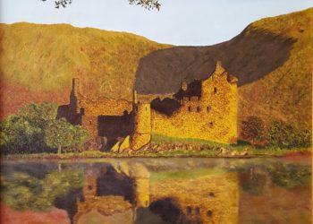 Castillo de Evening Kilchurn, en Escocia, donde se refleja este maravilloso lugar, en el cual destaca el reflejo del castillo sobre el lago Awe.