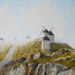 Molinos de Consuegra entre niebla
