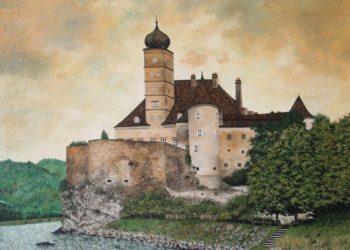 Castillo de Schönbübel patrimonio de la Humanidad en el año 2000 situado en la baja Austria, todoenvuelto en una armonía de ocres, amarillos y verdes.