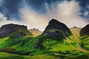 Montañas de Glen-Coe en Escocia
